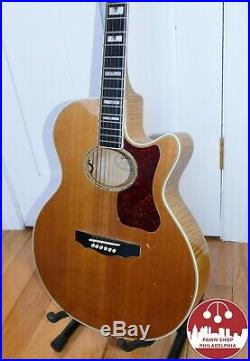 1995 Guild F65-CE Acoustic-Electric Guitar Natural Spruce/Maple with OHSC & Docs
