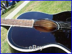 1998 Gibson J-180 Everly Brothers Ebony Black Acoustic Electric Guitar