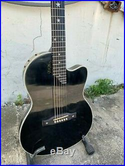 2001 Gibson Chet Atkins SST Acoustic Electric Guitar Black