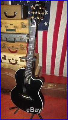 2002 Gibson Chet Atkins SST Acoustic Electric Guitar Black with Original Case