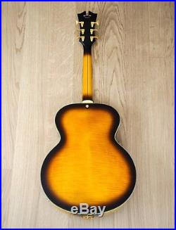 2015 D'Angelico EX63 Archtop Acoustic Electric Guitar Round Soundhole Near Mint