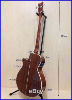 3/4 Size Haze FB-711 4-String Electric-Acoustic Bass Guitar, Natural+Free Gig Bag