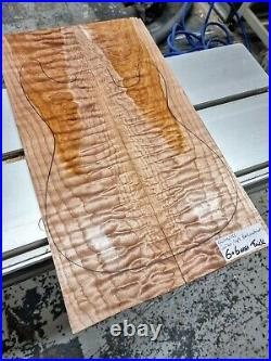 5A Quilted Maple Book-matched Guitar Top Luthier Wood Supply Guitar Bass Making