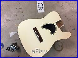 80's Charvel Charvette 500 Thinline Telecaster Acoustic Electric Guitar Body