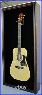 Acoustic Guitar Display Case Wall Cabinet, UV Protect Door with Lock