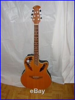 Applause Ovation Acoustic Electric Guitar AE-48 Elite Kaman withStrap
