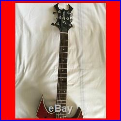 BC Rich WARLOCK Thinline Acoustic/Electric Guitar RARE With Coffin Case/Gigbag
