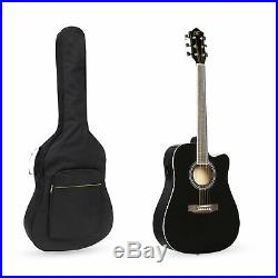 BCP 41in Full Size Acoustic Electric Cutaway Guitar Set with 10-Watt Amp, Case