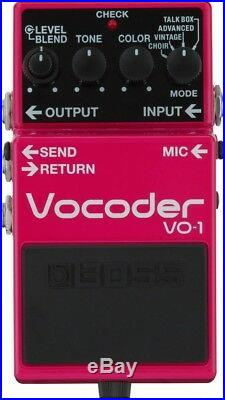 BOSS VO-1 Vocoder Guitar and Base Effects Pedal New in Box F/S Japan Import