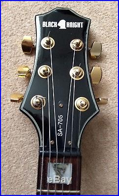 Black Knight semi-acoustic electric archtop guitar SA-705 with hard case