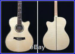 Caraya All Flame Maple Body Electric-Acoustic Guitar withEQ+Free Gig Gag 837CEQ/N