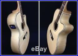 Caraya Flame Maple Body Electric-Acoustic Guitar, withEQ+Free Gig Gag 837CEQ/N
