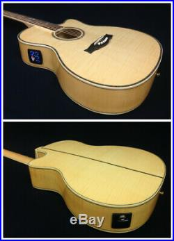 Caraya Flame Maple Body Electric-Acoustic Guitar withEQ+Free Gig Gag 837CEQ/N
