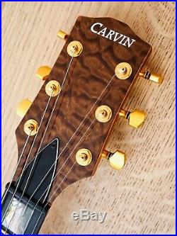 Carvin AE185 Semi Hollow Acoustic Electric Guitar AAAA Quilt Maple Top withohc