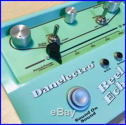 Danelectro Reel Echo Digigal Delay Effect Pedal for Electric Guitar, Bass