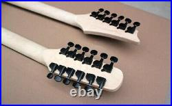 Double Neck 12+6 Strings Semi-Hollow body Electric Guitar and Acoustic Guitar