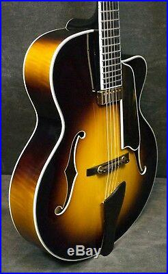 EASTMAN 805ce Sunburst Jazz Archtop Acoustic Electric Guitar ALL CARVED