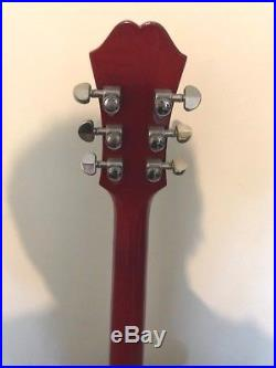 Epiphone DOT Semi-Acoustic Electric Guitar Left-handed Cherry Red
