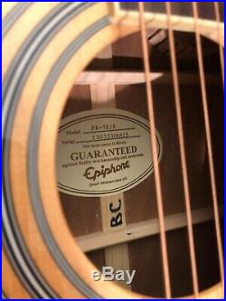 Epiphone PR-5E Acoustic-Electric Guitar (Tuner)(Used) withHard Shell Gator Case