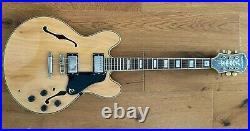 Epiphone Sheraton Semi Acoustic Natural Maple with hard case Great condition