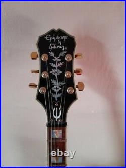 Epiphone by Gibson Sheraton Semi-Acoustic Blonde by Gibson logo 1987 Model Rare