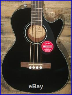Fender CB-60SCE Acoustic-Electric Bass Guitar BLACK NEW