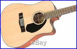 Fender CD-60SCE-12 Acoustic-Electric Guitar 12 String, Natural with Hard Case