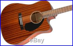 Fender CD-60SCE Dreadnought Acoustic-Electric Guitar All Mahogany with Gig Bag