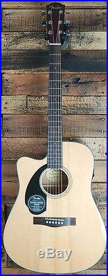 Fender CD-60SCE LH LEFT HAND Acoustic-Electric Dreadnought Cutaway Guitar NEW