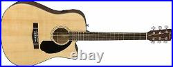 Fender CD-60SCE Solid Top Dreadnought Acoustic-Electric Guitar Natural with Hard