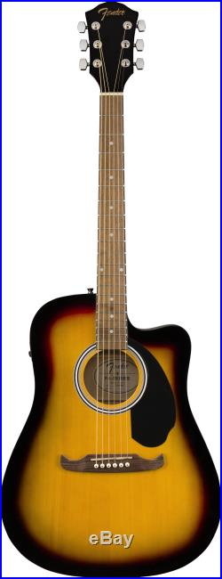 Fender FA-125CE Dreadnought Acoustic-Electric Guitar Sunburst with Gig Bag