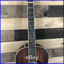 Fender PM-2E Parlor All-Mahogany Acoustic/Electric Guitar with Case