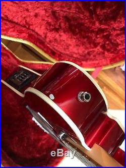 Fender Telecoustic Deluxe Acoustic/Electric Guitar Car Metallic With Case Rare