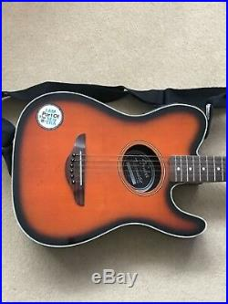 Fender Telecoustic Red Electric Acoustic Guitar With fender Case