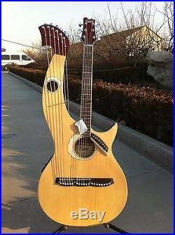 Free Padded Bag, Harp Guitar, Acoustic Electric Double Neck Guitar