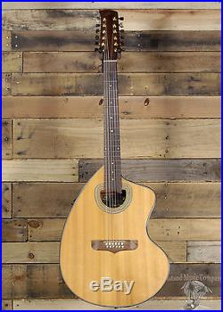 Giannini GSCRA-12 12 String Acoustic Electric Guitar Natural