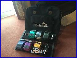 Guitar Pedal Board & 6 Pedals/Tuner/Power Supply/Cables