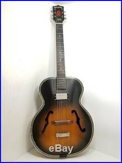 HARMONY H1215 ARCHTOP 1963 ACOUSTIC Electric GUITAR in TOBACCO SUNBURST