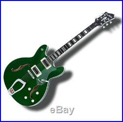 Hagstrom Viking Deluxe Semi-Hollow Electric Guitar Emerald Green Limited Edition