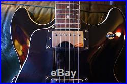 Harley Benton Semi Acoustic Electric Guitar, LEFT HANDED, Black, Excellent