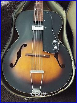 Harmony Archtop Guitar Pickguard Only. WithPickup, Controls, Jack, Hardware Fits Many
