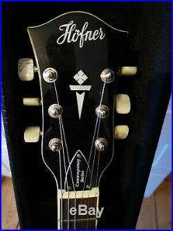 Hofner Verythin CT Electric Guitar Semi Acoustic ES 335 Style With Hard Case