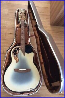 IMMACULATE Ovation Adamas II Blue Burst Acoustic Electric Guitar With Case 1581-7