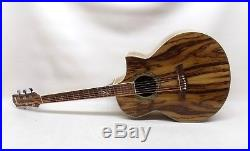 Ibanez EW20ZWENT1201 6 String Acoustic Electric Guitar Exotic Wood Zebrawood
