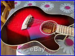 Ibanez Talman Acoustic Electric Guitar Tcy20 Red Sunset Mint Condition