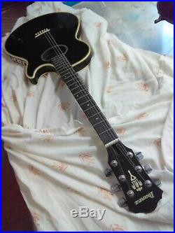Ibanez VINTAGE Rare Acoustic/Electric Guitar, Black Night, Thin Body