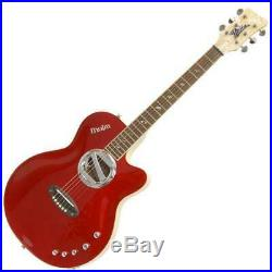 Italia Muira Hollow Body Acoustic Electric Guitar (Candy Apple Red)