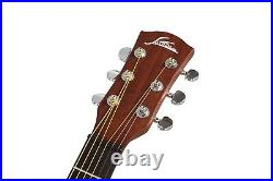 JASON Electric Acoustic Guitar With Accessories, Carry Backpack Bag Steel String