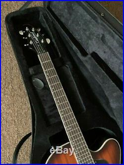 Jazz Semi Acoustic Electric Guitar, Humbuckers, set neck, F-hole in Hard case