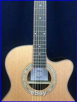 Klema Solid Cedar Top Small Jumbo Electric-Acoustic Guitar, EQ+Free Bag. K300JC-CE
